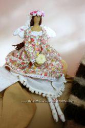 мягкие игрушки hand made тильда, зайцы, подушки-животные под заказ