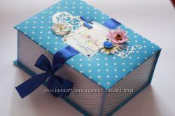 мамины сокровища - коробочка для хранения памятных детских вещей