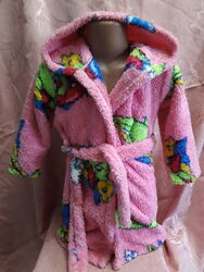 Тёплый махровый халат на девочку