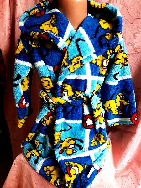 Тёплый махровый халат на мальчика