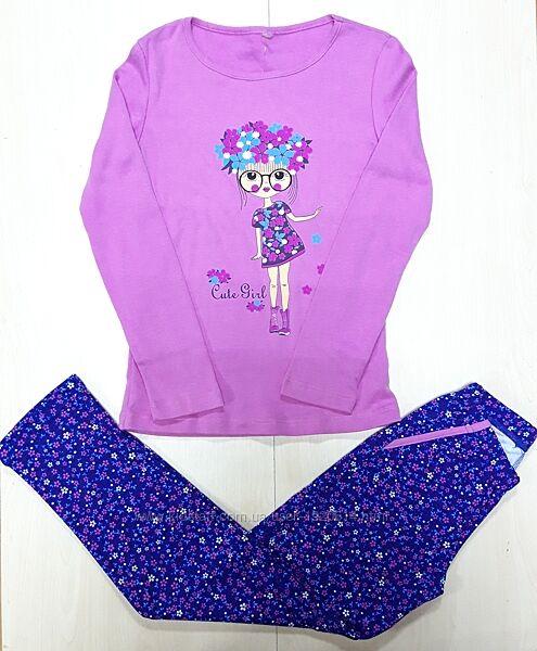 Пижама с начёсом на девочку подростковая