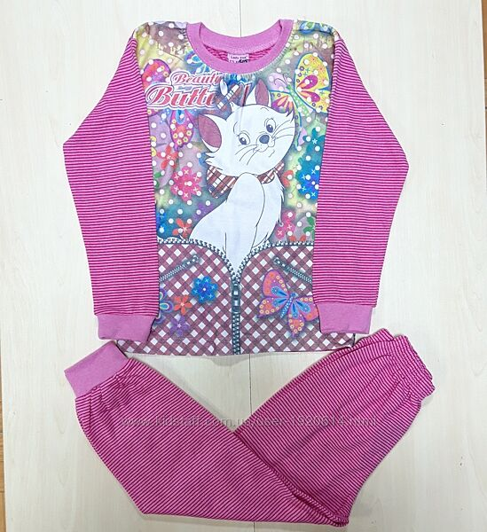 Пижама Кошечка с начёсом на девочку