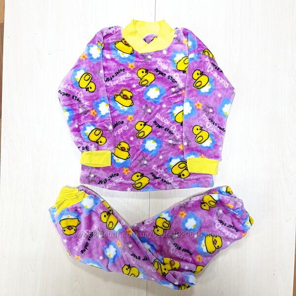 Пижама махра-травка, мягкая, тёплая на девочку