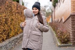Скидка. Зимняя слингокуртка для беременных 3 в 1