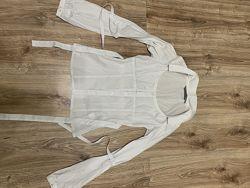 Стильная женская белая рубашка- блуза