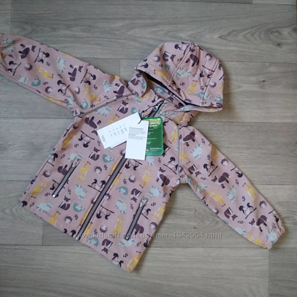 Демисезонная куртка софтшел softshell ветровка name it, 98