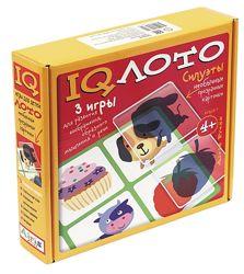 Пластиковое IQ лото с 4 лет Силуэты Набор из трех игр Айрис