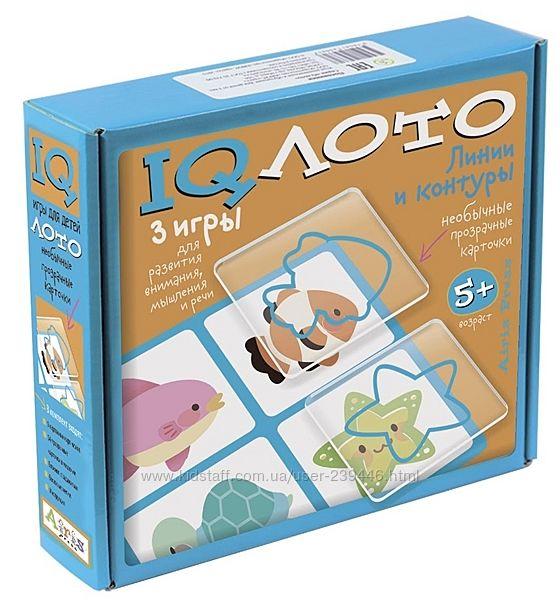 Пластиковое IQ лото с 5 лет  Линии и Контуры Набор из трех игр Айрис