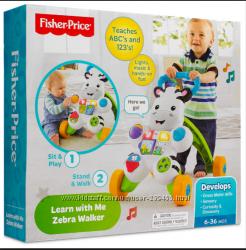 Fisher-Price Learn with Me Zebra Walker Ходунки Зебра Фишер Прайс
