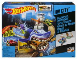Hot Wheels Color Shifters Sharkport Showdown Trackset Трек Атака Акулы из с
