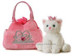 Aurora World Fancy Плюшевый котенок принцесса в сумочке