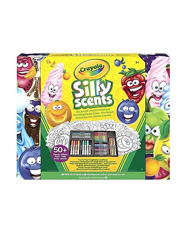 Crayola silly scented крайола фломастеры пахнущие 50 предметов