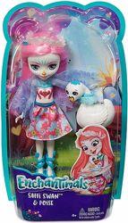 Enchantimals Saffi Swan and Poise FRH38 Кукла энчантималс Лебедь Сафи Свен