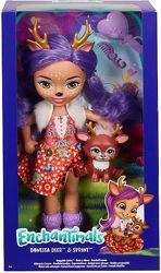 Enchantimals Huggable Danessa Deer Кукла Энчантималс большая Данесса Оленя
