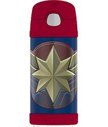 Термос термокружка с трубочкой Капитан Америка 355мл Thermos Funtainer