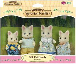 Sylvanian Families Silk Cat Family Сильваниан Фемелис Шелковые коты