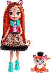 Enchantimals Tanzie Tiger FRH39 Кукла Энчантималс Тигренок Танзи