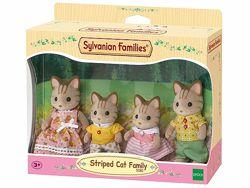 Sylvanian Families Striped Cat Family Сильваниан Фемелис семья коты