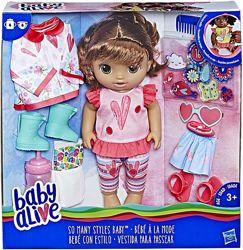 Кукла пупс с одеждой и обувью Baby Alive So Many Styles