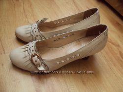 Миленькие  туфли из натуральной кожи