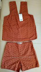 Топ и шорты Mango , размер S , XS. пролет