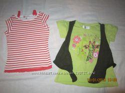 майки, футболки на 1-3года