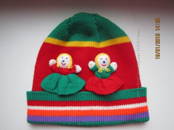 демисезонные шапочки  на 1-3года