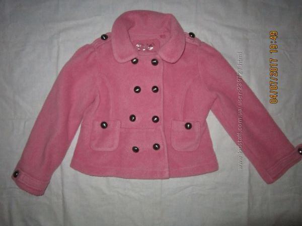 флисовый пиджачек на 3-4года