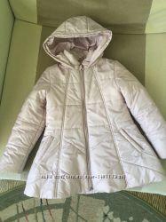 Розовая куртка пальто р. 122-128 идеал. сост.