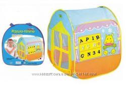 Детская палатка  с тоннелем камуфляж, Домик, 8030, Маркет 8063, в наличии
