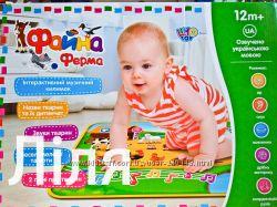 Детский развивающий коврик Limo Toy M 3455 Файна ферма укр язык 73х50см