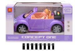 Машина кабриолет с куклой Барби WD580B, звук, свет