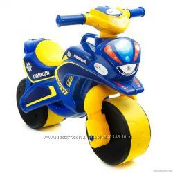 Мотоцикл, байк полиция 0139 Долоні муз. , беговел Долони, Doloni в ассортим