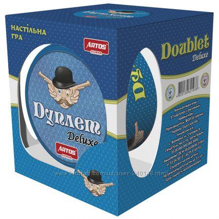 Настольная игра Дуплет Deluxe металлическая коробка , Artos Games, Украина
