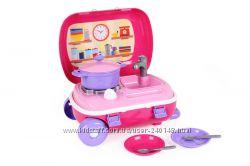 Кухня с набором посуды технок в чемодане на колесах, арт. 6078, 6061
