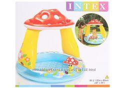 Детский надувной бассейн Intex 57114 Грибочек, 57141 Облако  Интекс