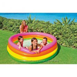 Детский надувной бассейн  Intex 56441 Радуга , 168 х 46,  Интекс
