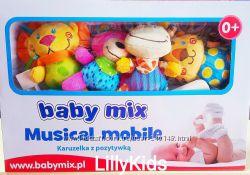 Карусель для кроватки плюшевая Baby Mix TK444M Plush Zoo, Сафари, мобиль .