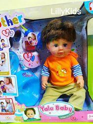 Кукла Пупс шарнирный Братик BLB 001 A , 6 функций, с аксессуарами, Yale Baby