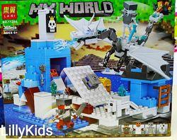 Конструктор Bela Lari 11266 Minecraft Ледяная ловушка для дракона, 365 дет.