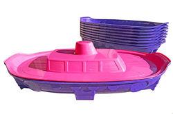 Пісочниця Кораблик з лопаткою 03355 DOLONI, песочница с крышкой Долони. Рас