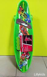 Скейт MS 0461-2 Пенни борд с ручкой, 59-16 см. Колеса светятся, ПУ