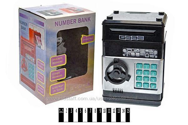 Музыкальная игрушка сейф банкомат, копилка 881506