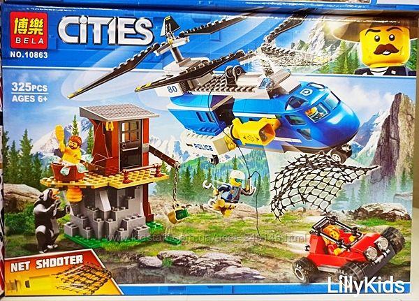 Конструктор Bela Cities 10863, 10862  Погоня в горах Аналог Lego City