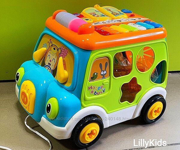 Автобус музыкальный для малышей 6313 , свет, звук, английское озвучивание. М