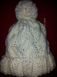 Шапка снуд-шарф красный теплый шарф