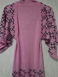 Платье трикотажное двойка с болеро р.46