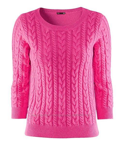 Свитер h&m розовый с шерстью альпаки размер m
