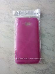 Чехол накладка для Lenovo S930 розовый