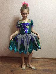 Платье карнавальное 9-10 лет рост 134-140 см, сост. нового